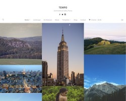 Tempo Photography WordPress Theme