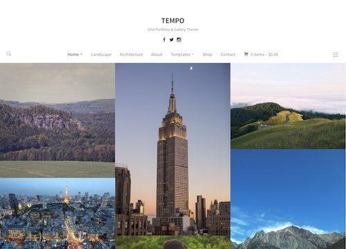 Tempo Photography WordPress Theme