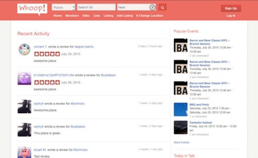 Whoop – Yelp Clone WordPress Directory Theme
