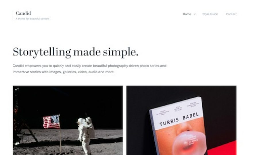 Candid WordPress Theme
