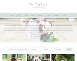 Faithful: Ecommerce Photography WordPress Theme