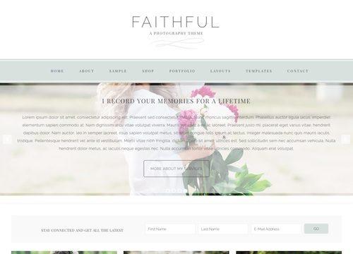 Faithful: Ecommerce Photography WordPress Theme