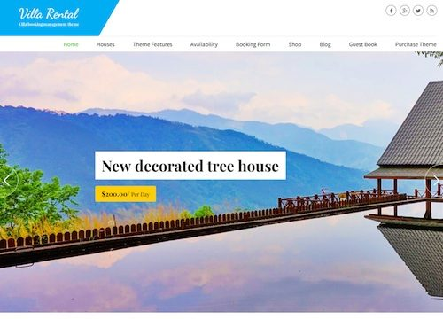 Vacation Rental Booking WordPress Theme