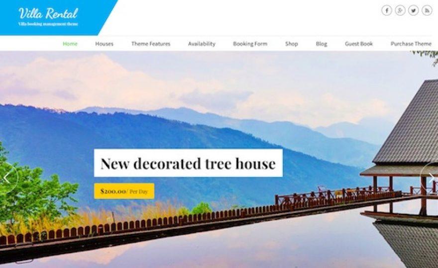 Vacation Rental Booking WordPress Theme