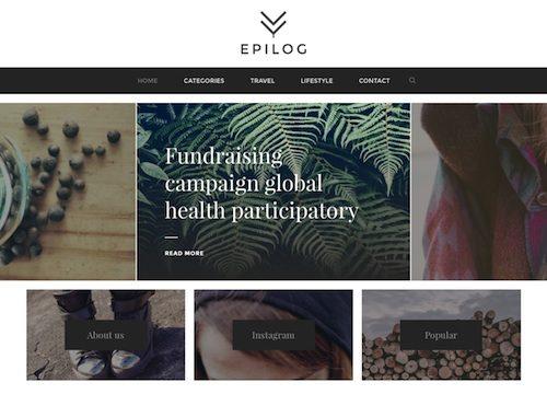 Epilog Blogging WordPress Theme