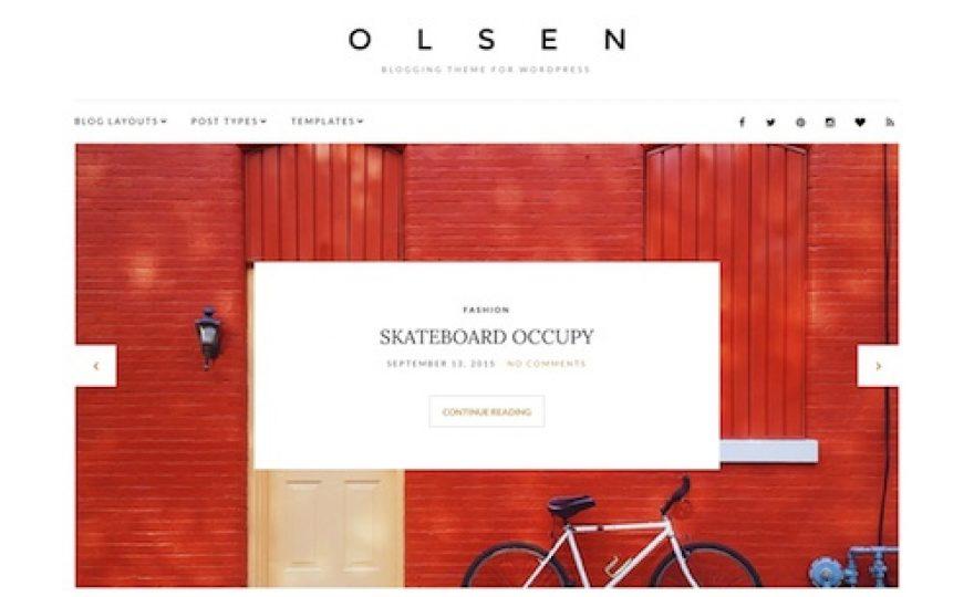 Olsen: Blogging WordPress Theme