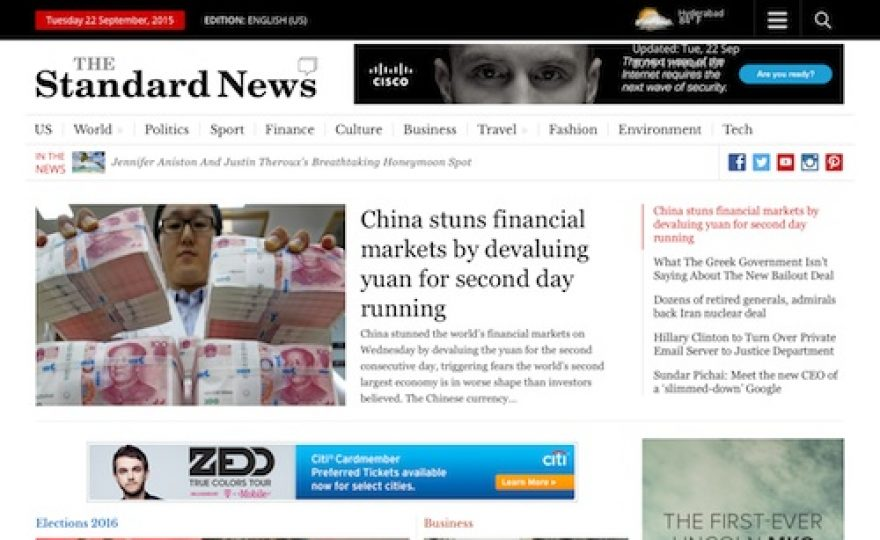 Standard News WordPress Theme