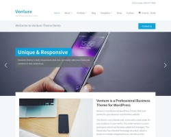Venture 2.0 Business WordPress Theme