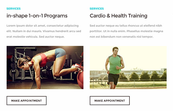 Personal Trainer Website Services
