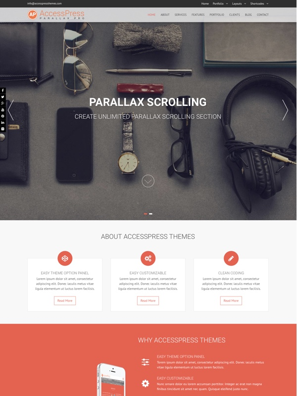 accesspress-parallax-pro
