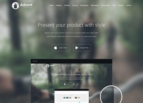 Advent: Product Showcase WordPress Theme
