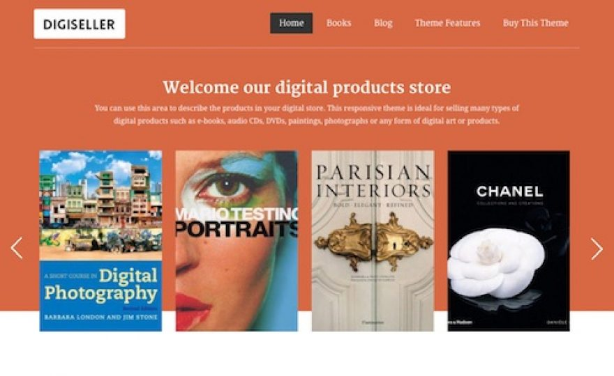 DigiSeller Digital Products Ecommerce WordPress Theme