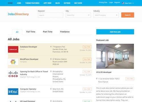 Jobs Directory WordPress Theme