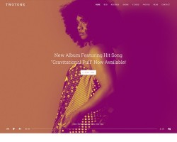 Twotone: WordPress Music Theme