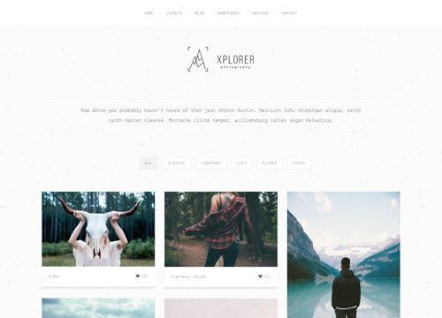 Xplorer WordPress Portfolio Theme