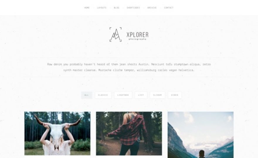 Xplorer WordPress Portfolio Theme