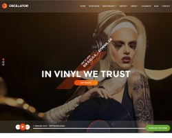 Oscillator: Music WordPress Theme
