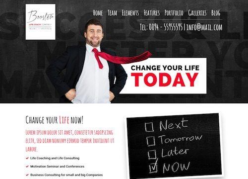 Booster: Life Coach WordPress Theme