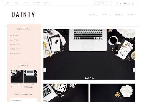 Dainty: Feminine Ecommerce WordPress Theme