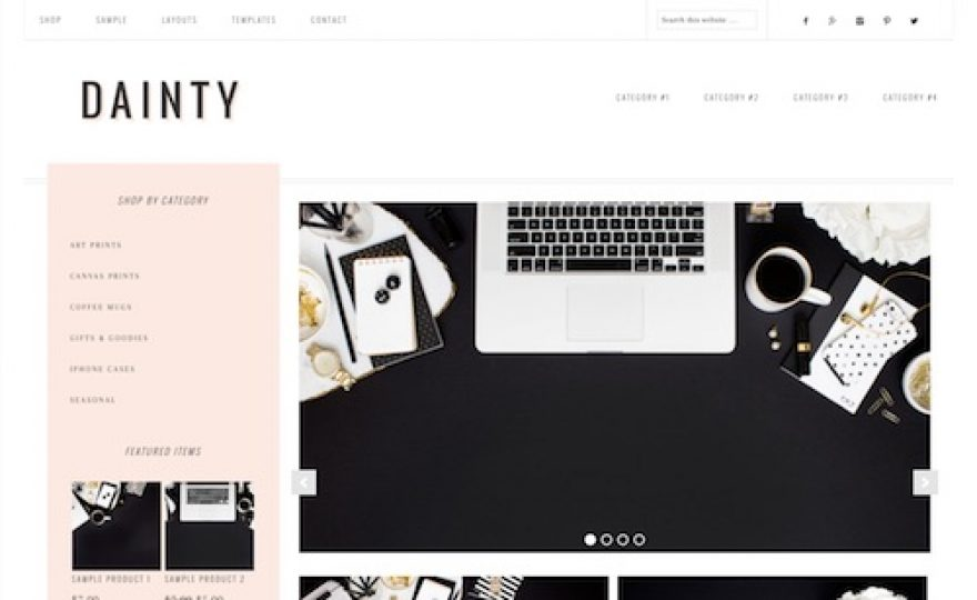Dainty: Feminine Ecommerce WordPress Theme