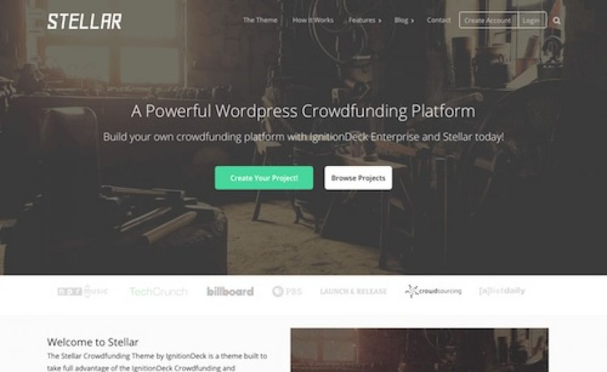 Stellar: Crowdfunding WordPress Theme
