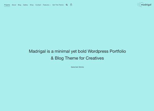 Madrigal – Portfolio & Blog WordPress Theme
