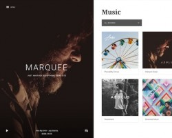 Marquee WordPress Music Theme