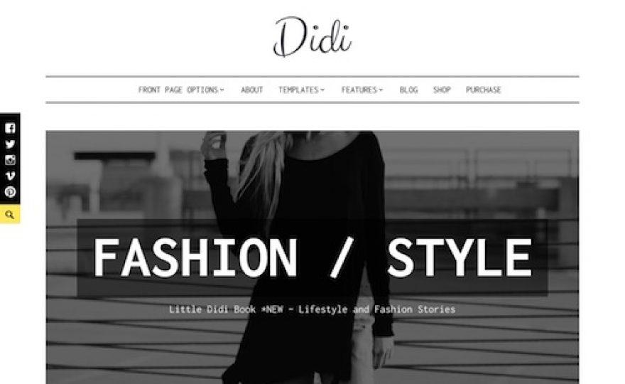 Didi – Blog Magazine WordPress Theme
