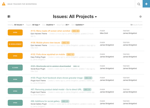 Issue Tracker Theme for WordPress