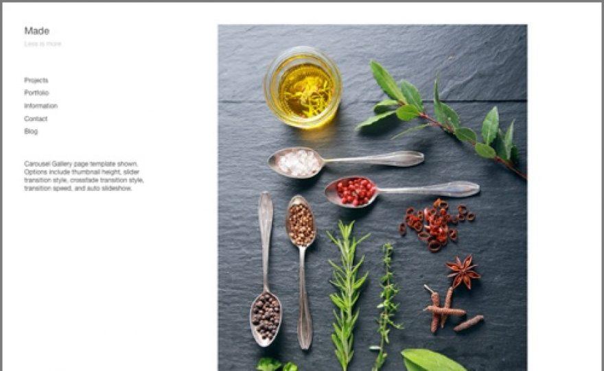 Made – Portfolio & Photography WordPress Theme