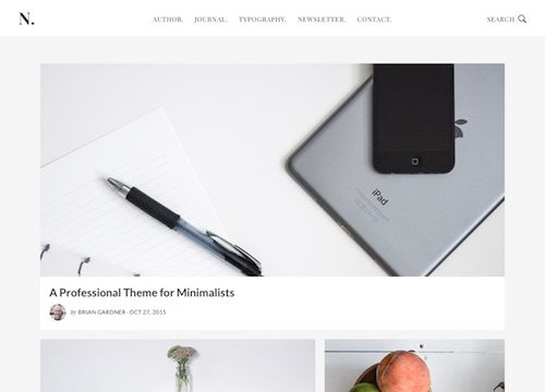 No Sidebar Pro WordPress Theme