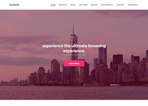 Roxima – One Page Business WordPress Theme