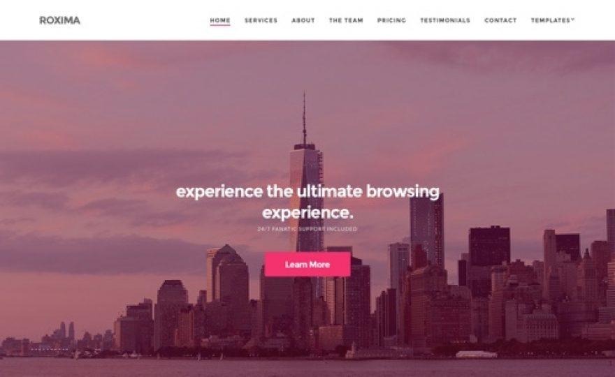 Roxima – One Page Business WordPress Theme