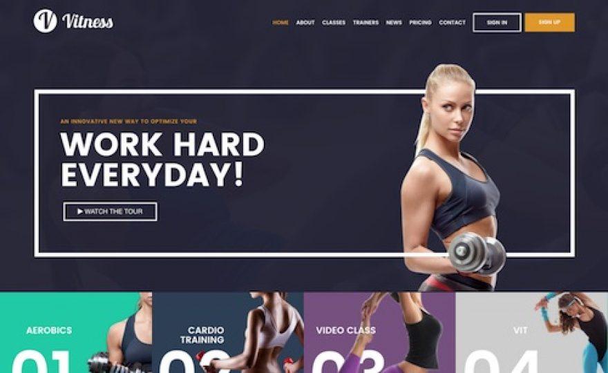 Vitness – Gym & Personal Trainer WordPress Theme