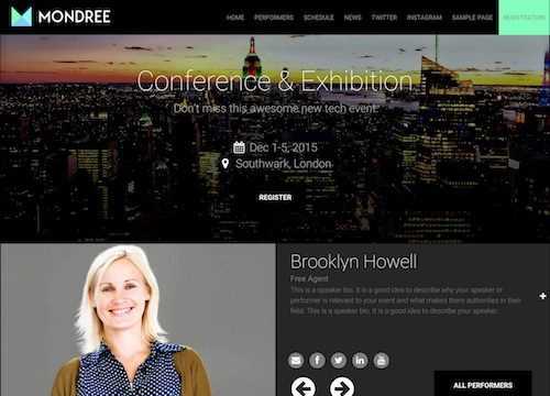 Mondree: Event Management WordPress Theme