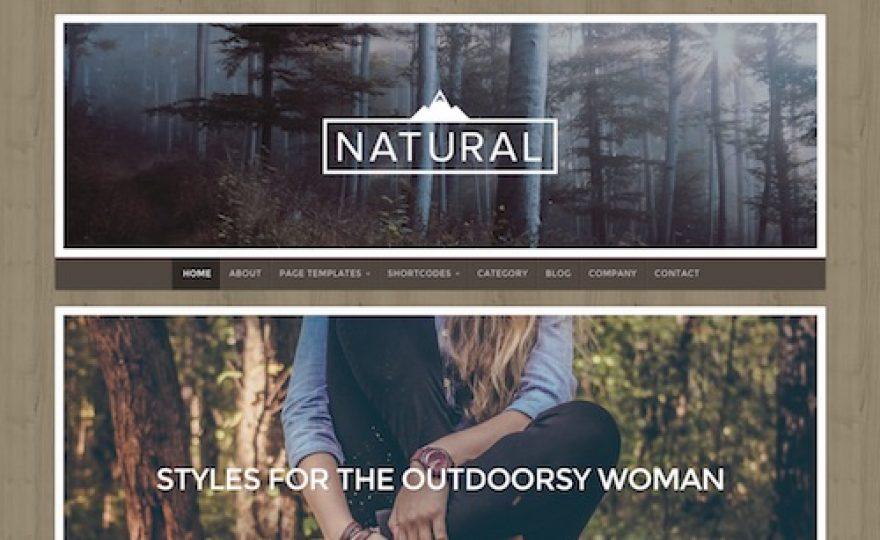 Natural: Multipurpose WordPress Theme