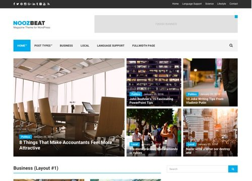 Noozbeat: News / Magazine WordPress Theme