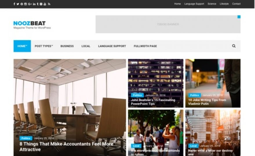 Noozbeat: News / Magazine WordPress Theme