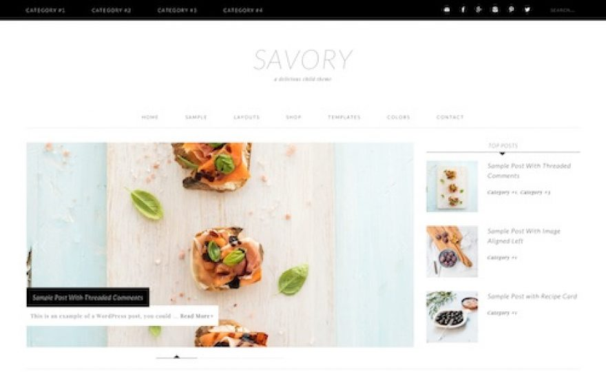 Savory: WordPress Theme for Food Bloggers