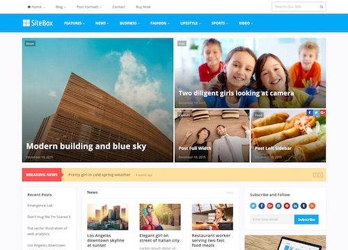 SiteBox: Magazine WordPress Theme