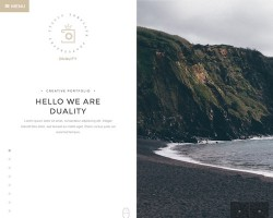 Duality: Split Screen WordPress Theme