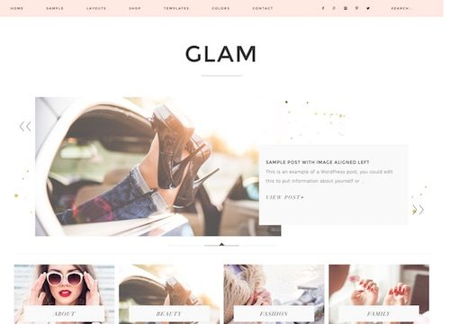 Glam WordPress Theme