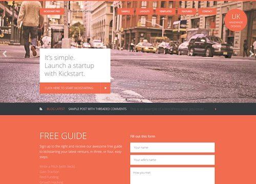 Kickstart Pro: Startup WordPress Theme