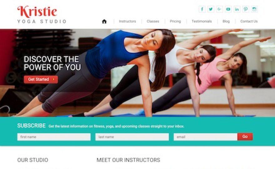 Kristie: Yoga WordPress Theme