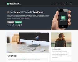 Martial: Blog WordPress Theme