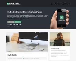Martial: Blog WordPress Theme