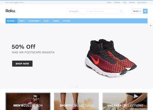 Roku: Ecommerce WordPress Theme