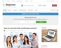 Beginner Blog WordPress Theme