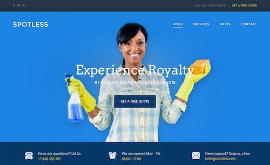 Spotless: Cleaning Company WordPress Theme