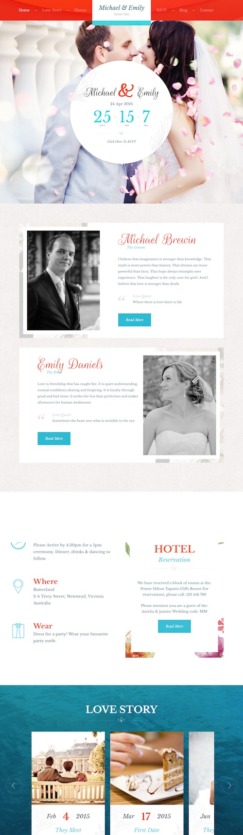 30+ Best Wedding WordPress Themes 2018